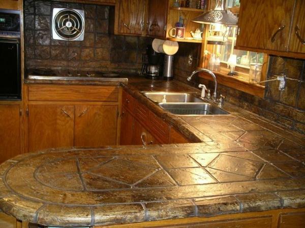 granit-arbeitsplatten-kleine gemütliche küche