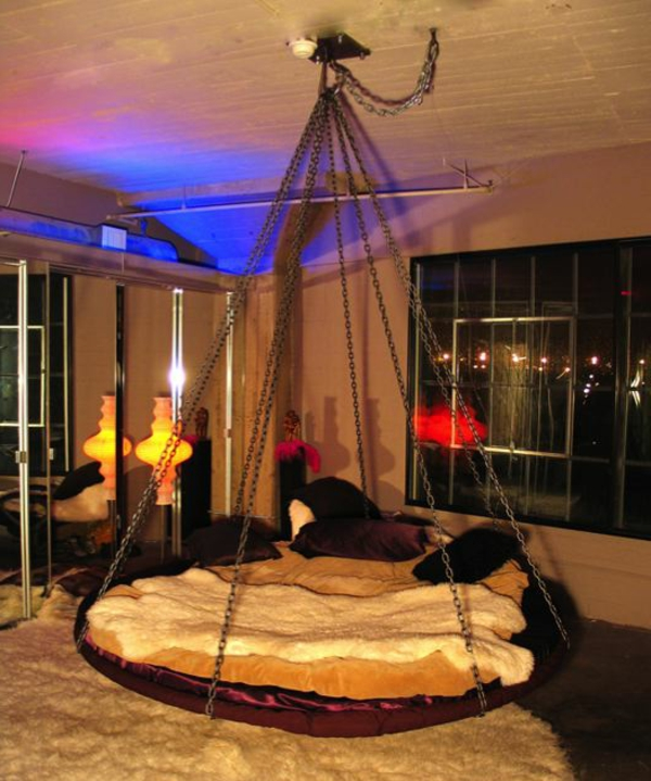 hängende-betten-rundbetten-moderne beleuchtung