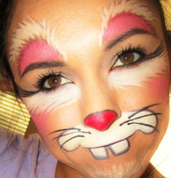 Hasengesicht schminken – 55 verblüffende Ideen!