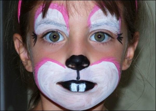 Hasengesicht schminken 55 verbl ffende ideen for Halloween zimmerdeko
