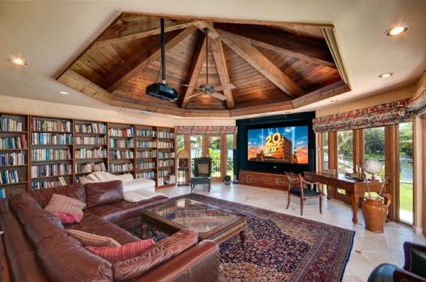 einrichtungsdeen fur hausbibliothek bucherwand. Black Bedroom Furniture Sets. Home Design Ideas