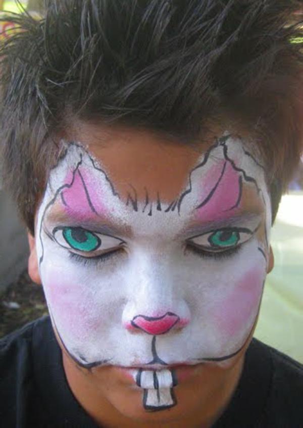 interessant-hasengesicht-schminken- sehr sehr kreativ