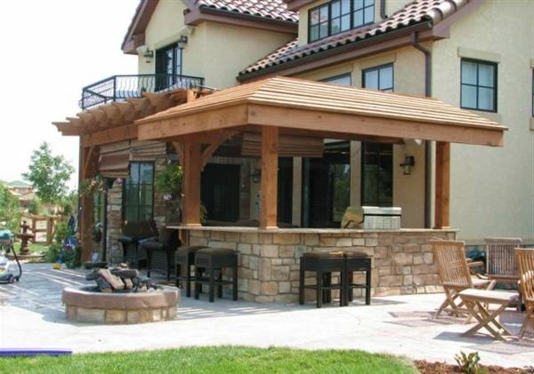 interessante-outdoor-küche-Moderner look