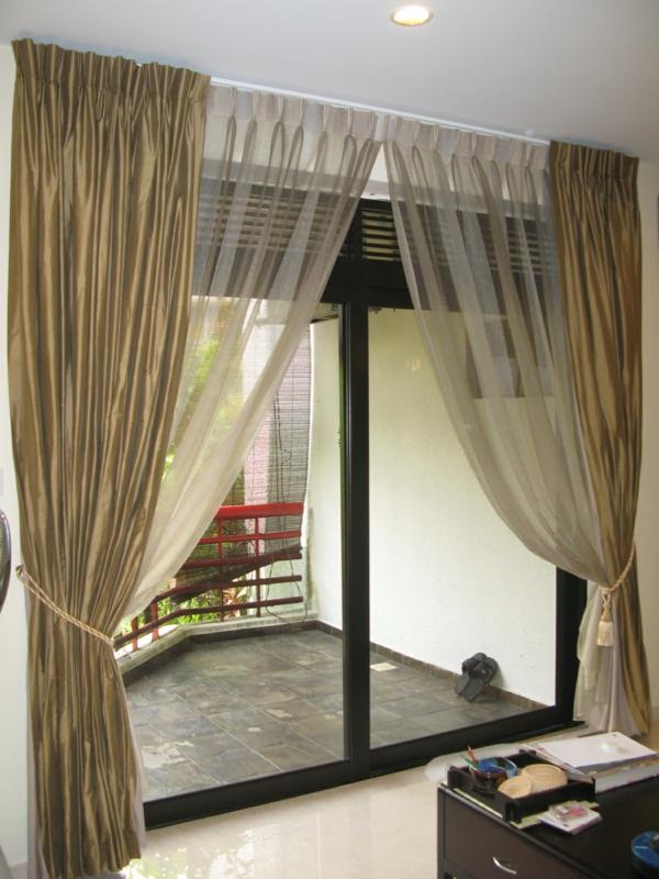 interessant-wirkende-schlafzimmer gardinen- schöne terrasse