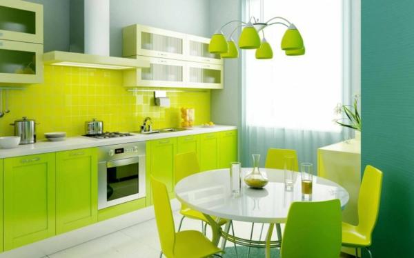 einrichten mit farben: grüne farbtöne für frische atmosphäre ... - Küche Hellgrün