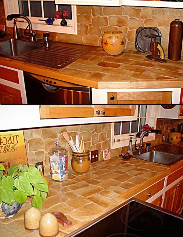 küchenarbeitsplatten-landhausküche gestalten