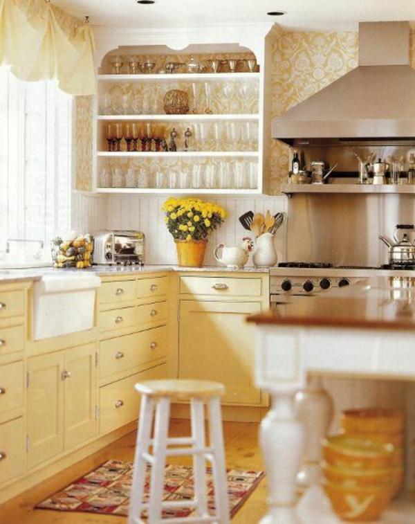 küchentapeten-beispiele-akzent-gelb