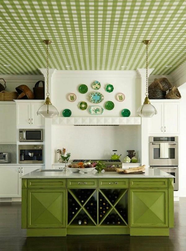küchentapeten-beispiele-akzent-grün