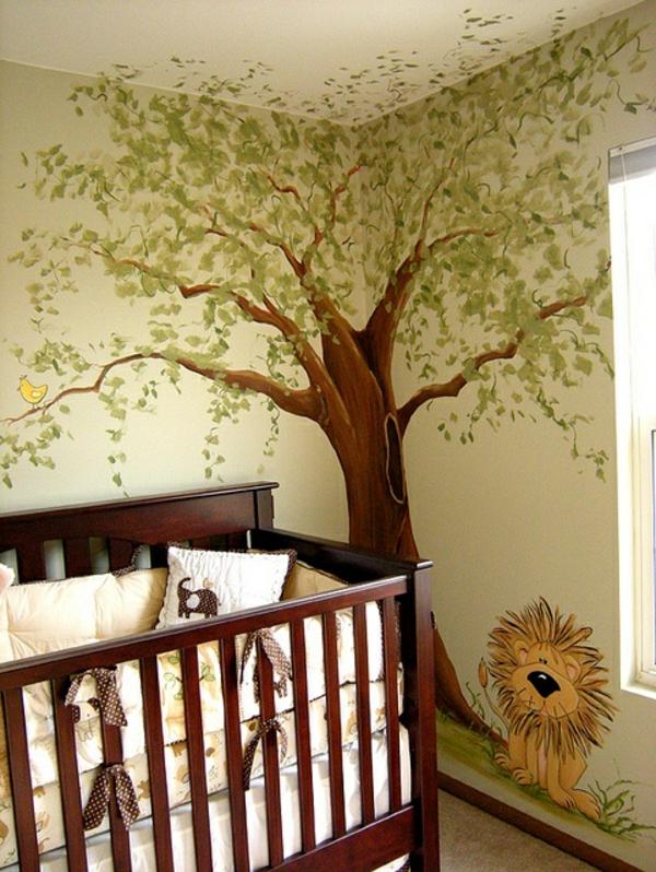 Kinderzimmer wandgestaltung baum selber malen  Kindertapete Dschungel - das Wilde zu Hause zu haben! - Archzine.net