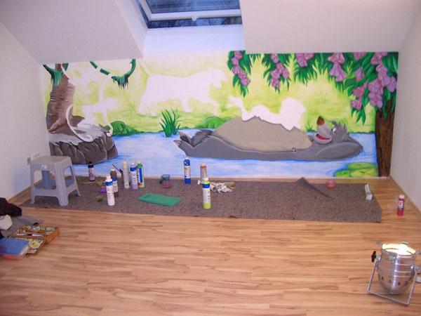 Kinderzimmer wandgestaltung dschungelbuch  Kindertapete Dschungel - das Wilde zu Hause zu haben! - Archzine.net