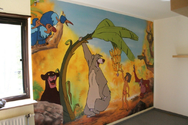 Kinderzimmer Wandgestaltung Dschungelbuch Kreative
