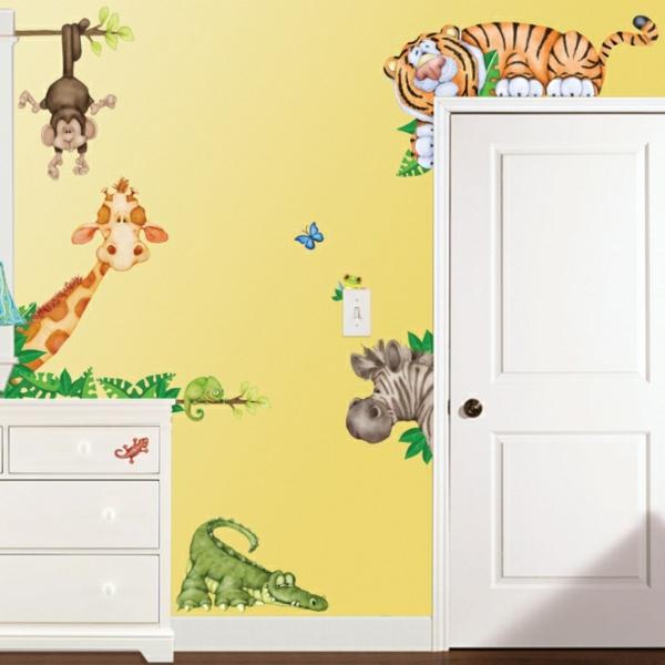 kindertapete dschungel das wilde zu hause zu haben. Black Bedroom Furniture Sets. Home Design Ideas