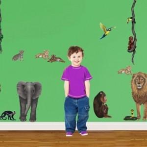 Kindertapete Dschungel - das Wilde zu Hause zu haben!