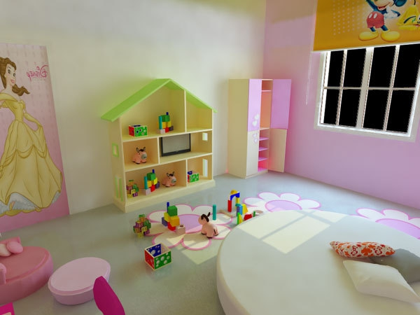 kinderzimmergestaltung-mädchenzimmer- spielzeuge