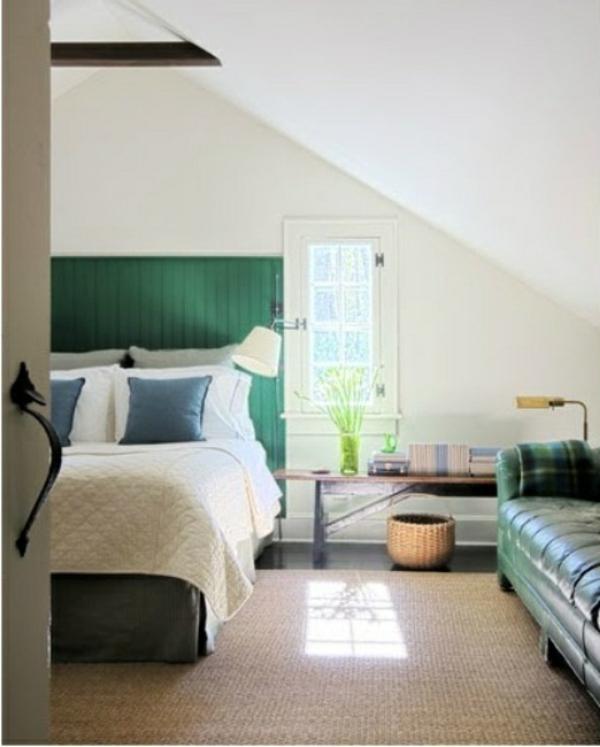 beleuchtung schlafzimmer gold blau akzente pendel