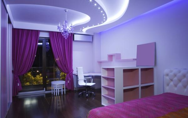 kreative-farbideen-für-schlafzimmer-super beleuchtung