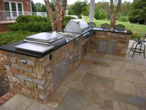 kreative-outdoor-küche-gestaltung-Einmalig erscheinen