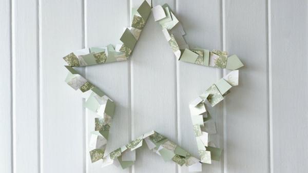 kreative-weihnachtsbastelideen-stern-aus papier