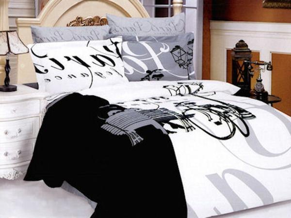 lusitge-bettwäsche-in-schwarz-und-weiß- viele kissen