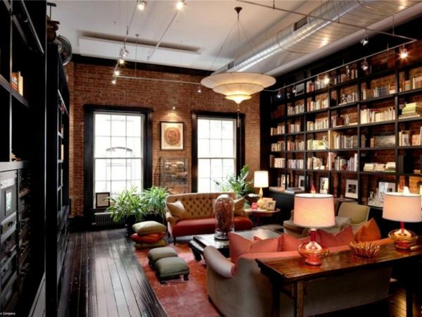 luxus- Haus – Bibliothek