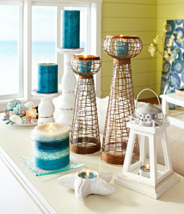 maritime-Deko-Ideen-Kerzen-Laterne-drinnen-draußen-interessant-dekoartikel