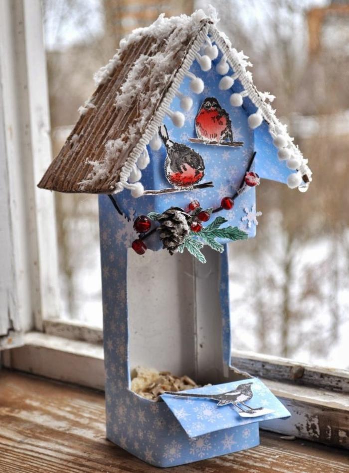milchkarton vogelhaus bauanleitung kostenlos ideen diy upcycling ideen