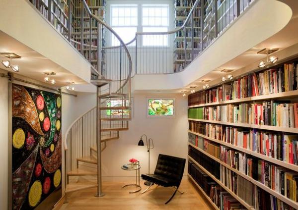 Ideen f r haus bibliothek f r fortgeschrittene - Buro im keller einrichten ...
