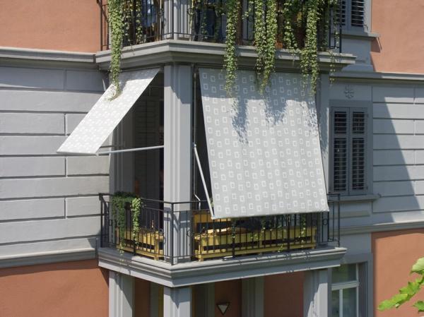 sonnensegel für balkon-graue farbe-wunderschön wirkend