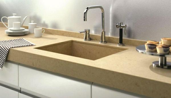 moderne-gestaltung-arbeitsplatte-aus-naturstein-für-die-küche-minimalistisch wirkend