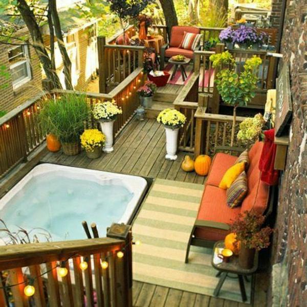 Moderne holzterrasse gestaltung 27 coole vorschl ge for Zen style balcony