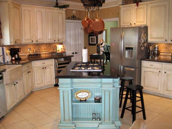 franz sische landhausk chen 30 coole ideen. Black Bedroom Furniture Sets. Home Design Ideas