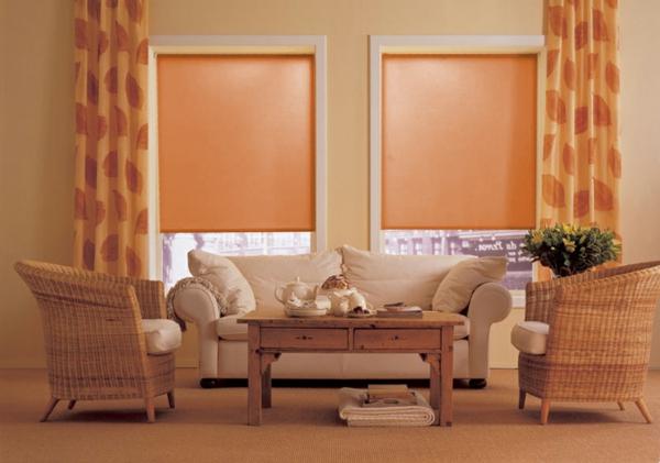 moderne-jalosine-pfirsich-farbe -orange gardinen