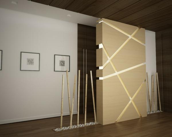moderne wohnung mir interessanter bambus dekoration sehr schnes zimmer - Moderne Deko
