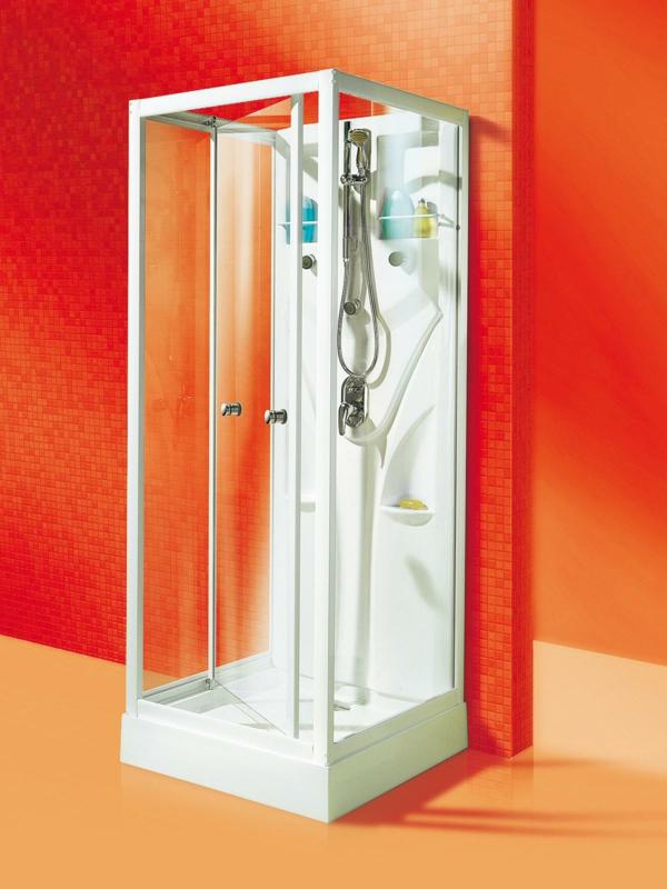 moderne fertigdschkabinen-orange-wände- wunderschöne gestaltung