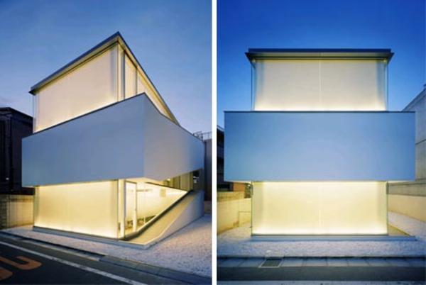 modernes-einfamilenhaus-zwei-bilder- schöne beleuchtung