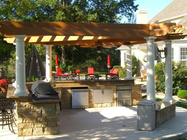 outdoor-küche-interessant-gestaltet-Moderner look