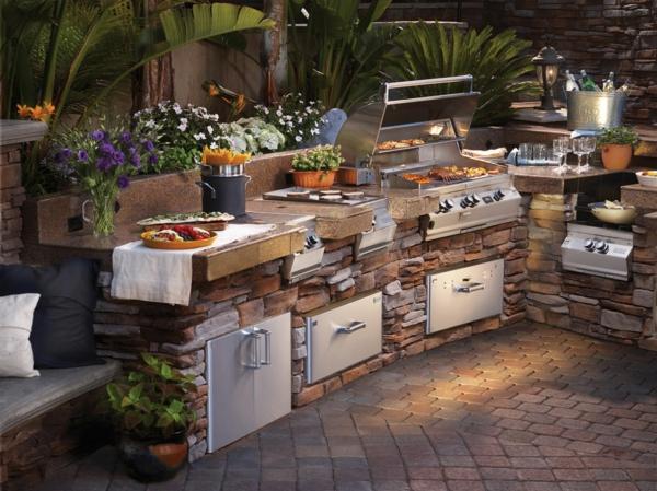 outdoor-küche-super-gestaltung-Sehr schön wirkend