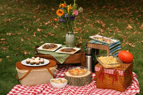 picknickkorb-kaufen-und-das-esse-zubereiten-schöne blumen