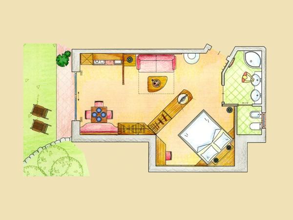 Gestaltungsmoglichkeiten Einraumwohnung Stunning ...