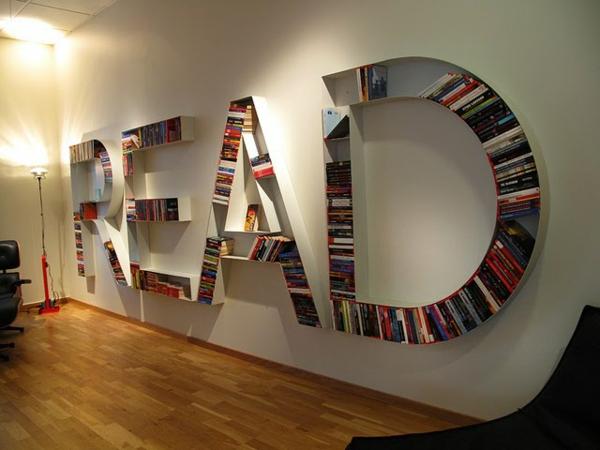 Bücherregal kreativ  50 originelle Bücherregale für Ihre Wohnung! - Archzine.net