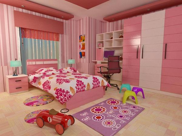 rosiges-mädchenzimmer-schön-schöne spielzeuge