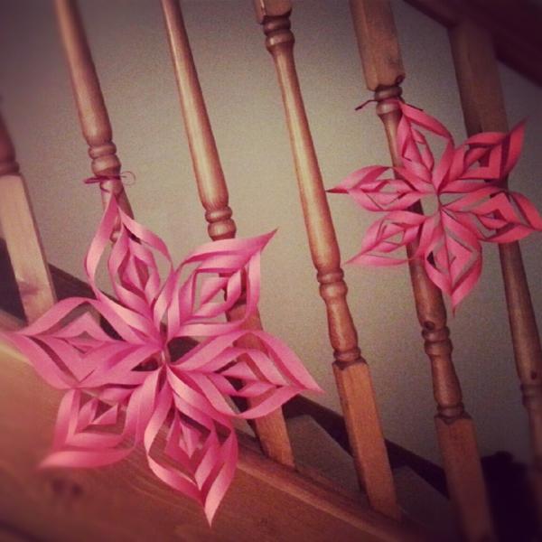 schöne-blumen-weihnachtsbastelideen-rosig