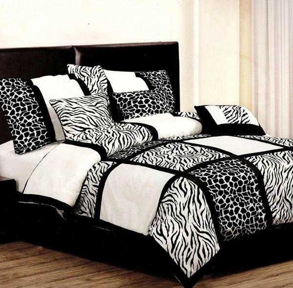bettw sche in schwarz und wei 45 ideen. Black Bedroom Furniture Sets. Home Design Ideas