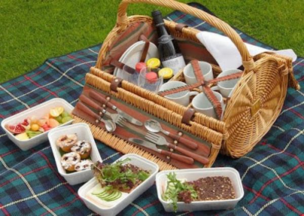 schönes-modell-vom-picknickkorb-leckere sachen zum essen