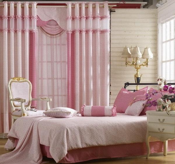 schlafzimmergardinen-sehr-originelle-gestaltung-rosige nuance