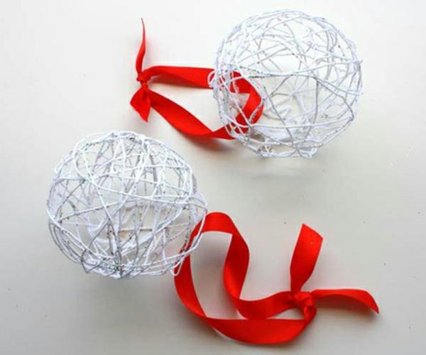 30 originelle weihnachtsbastelideen - Tannenbaumschmuck basteln ...