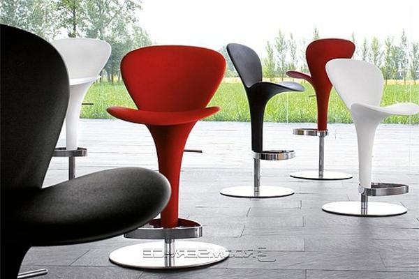 schwarze-weiße-und-rote-barhocker- dieselbe designs
