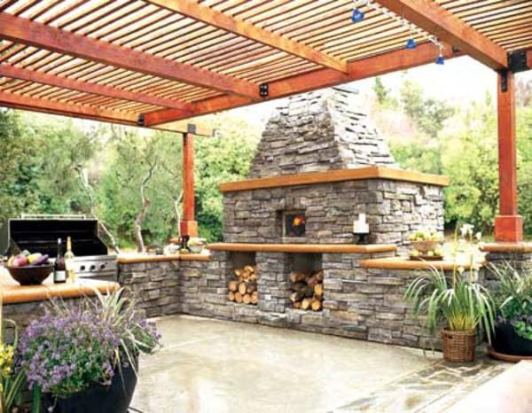 sehr-moderne-outdoor-küche-gestaltung-Origenell wirken