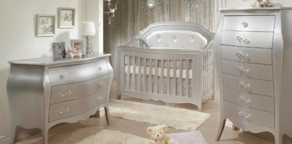 silberne-farbe-ultramoderne-babyzimmergestaltung-aristokratisch aussehen