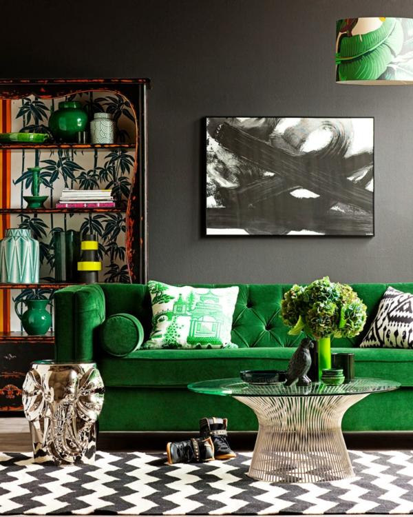 Grüne Wand Schlafzimmer